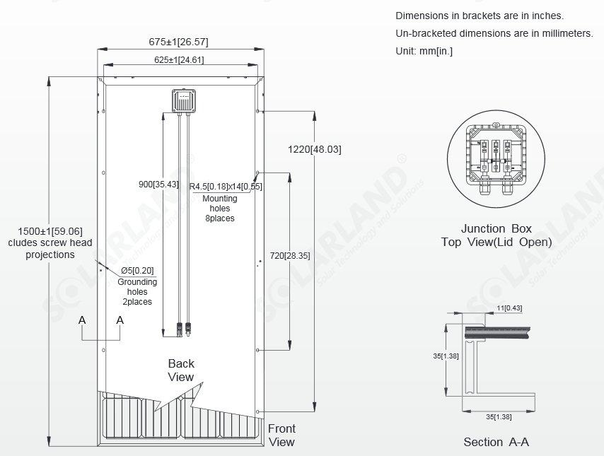 Solarland Slp170s 12 170 Watt 12v Solar Panel