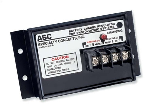 Specialty Concepts ASC™ 8 Amp 12V Charge Controller w/ Maximum Current Flow  & Protection (ASC-12/8)