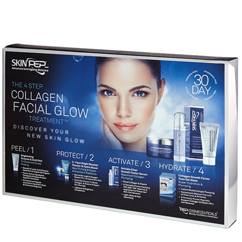 4 Step Collagen Facial Glow Treatment - 30 Day Set