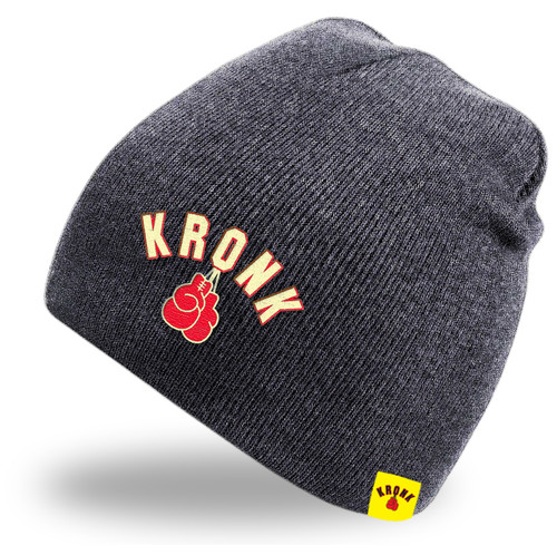 KRONK Gloves Beanie Hat Charcoal Grey
