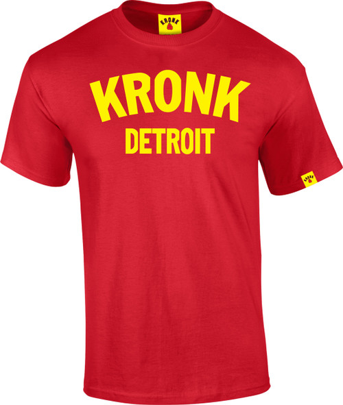 KRONK Detroit T Shirt Red
