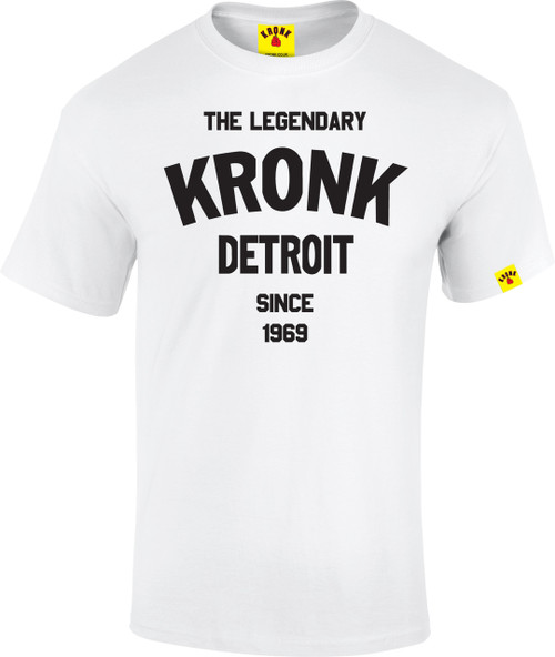 The Legendary KRONK Detroit T Shirt White
