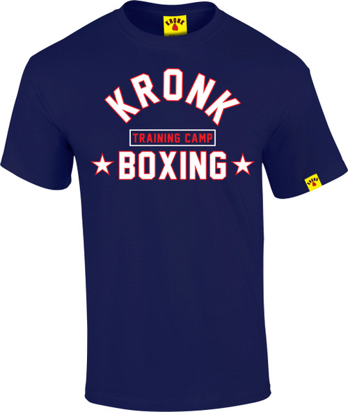 KRONK Boxing Training Camp T Shirt Navy