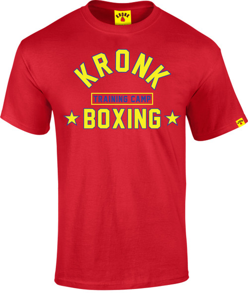 KRONK Boxing Training Camp T Shirt Red
