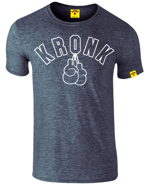 KRONK Gloves Outline Slimfit T Shirt Heather Navy