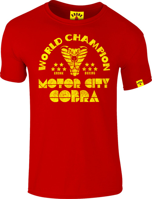 KRONK Thomas Hearns Motor City Cobra Slimfit T Shirt Red