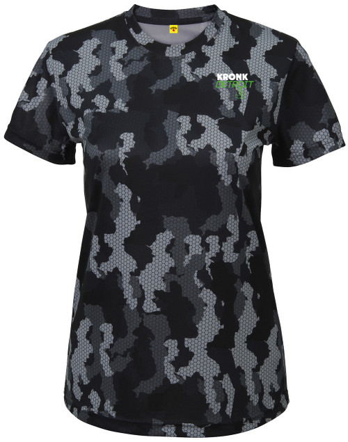 KRONK Camo Training T Shirt Charcoal