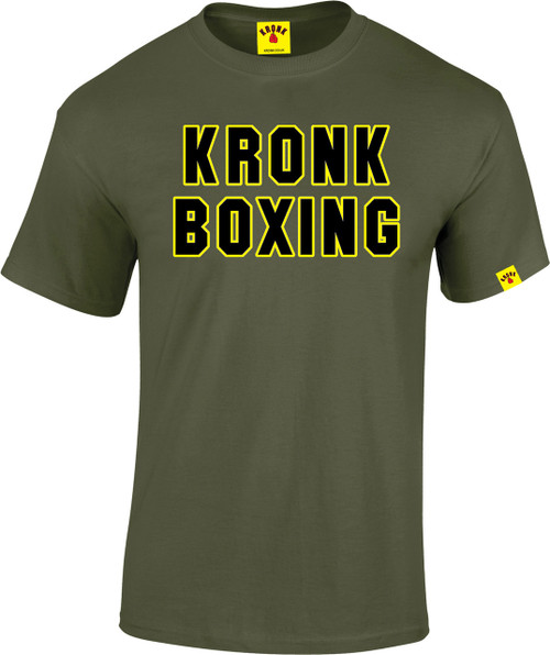 KRONK Boxing Classic T Shirt Military Green