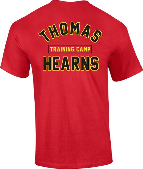 KRONK Boxing Thomas Hearns Training Camp T Shirt Red