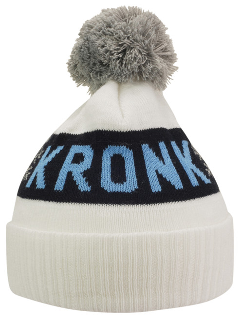 KRONK Detroit Snowflake Bobble Hat White