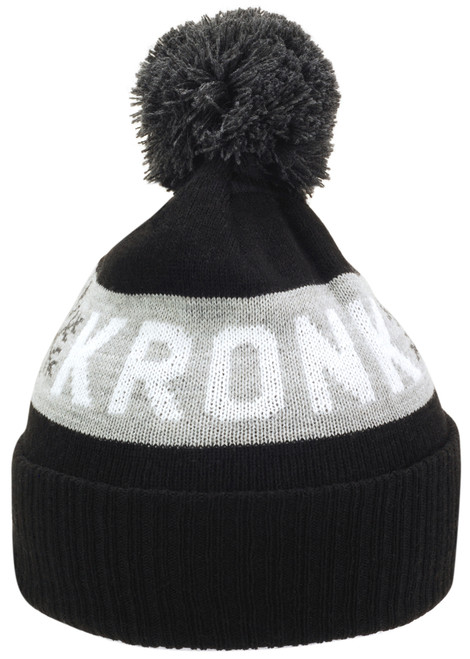 KRONK Detroit Snowflake Bobble Hat Black
