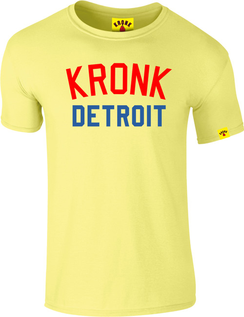 KRONK Iconic Detroit Slim fit T Shirt vintage Yellow