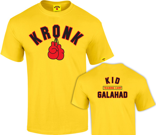 KRONK Boxing Kid Galahad Training Camp T Shirt Yellow