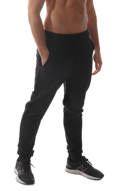 KRONK Premium Fleece Regular fit, tapered leg, cuffed sweatpant Joggers Black