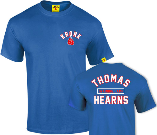 KRONK Boxing Thomas Hearns Training Camp T Shirt Royal Blue