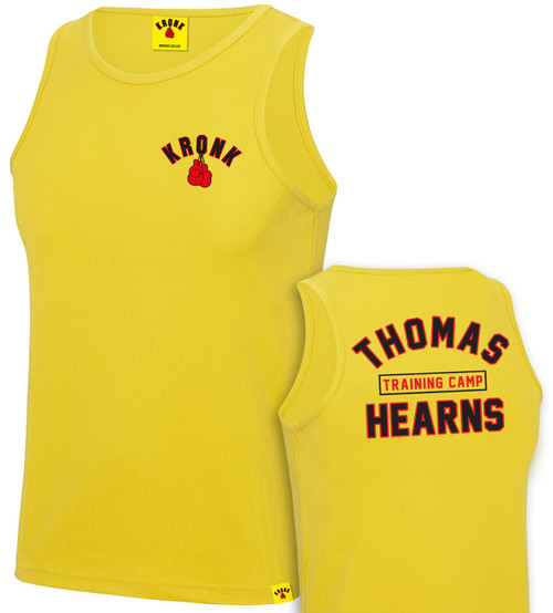 KRONK Boxing Thomas Hearns Training Camp Vest Yellow