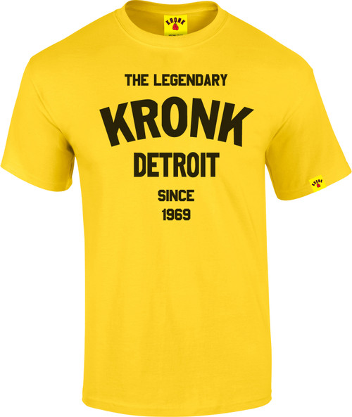The Legendary KRONK Detroit T Shirt Yellow