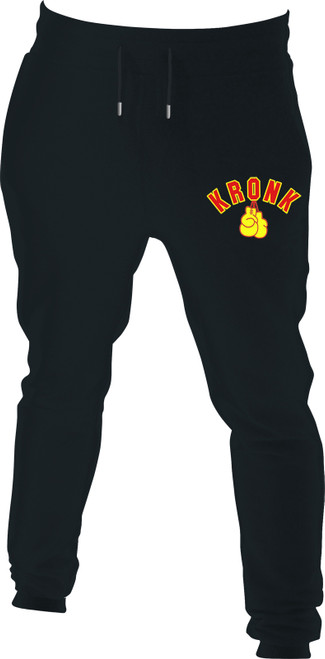 Kronk Applique Gloves Joggers Regular Fit Black