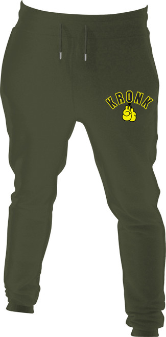 Kronk Applique Gloves Joggers Regular Fit Military Green