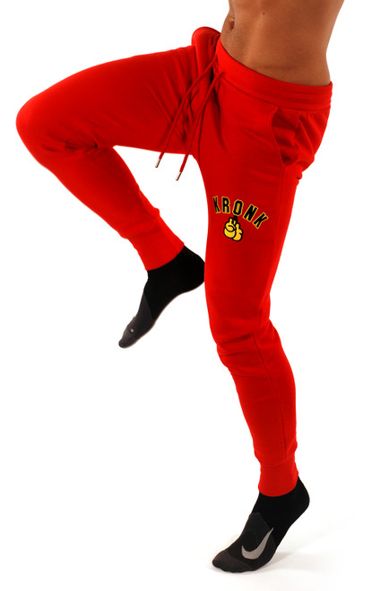 Kronk Applique Gloves Joggers Regular Fit Red