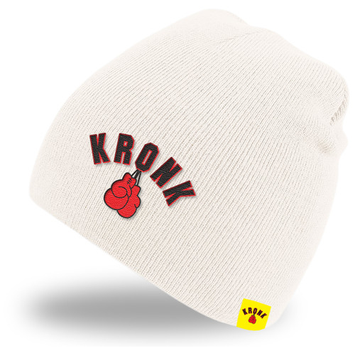 KRONK Gloves Beanie Hat Winter White