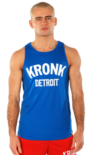 KRONK Detroit Applique Training Gym Vest Royal Blue