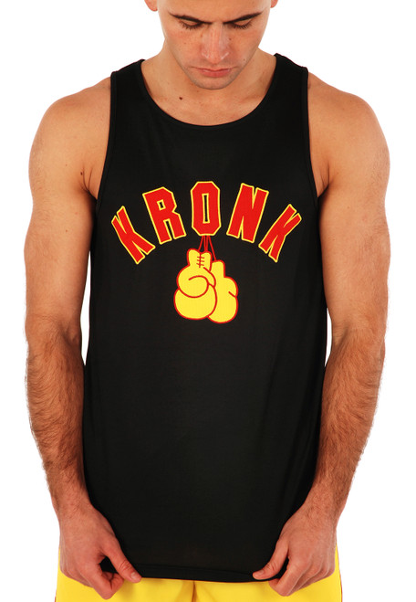 KRONK Gloves Applique Training Gym Vest Black