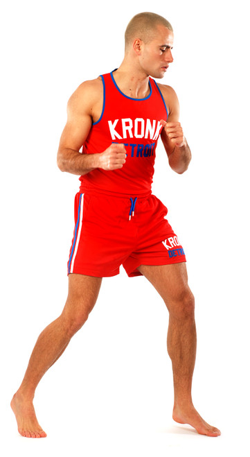 KRONK Iconic Detroit Applique Lined Shorts Red