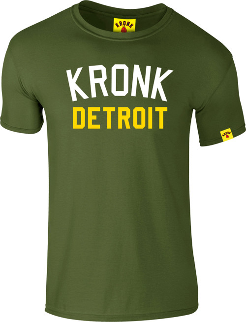 KRONK Iconic Detroit Slim fit T Shirt Military Green