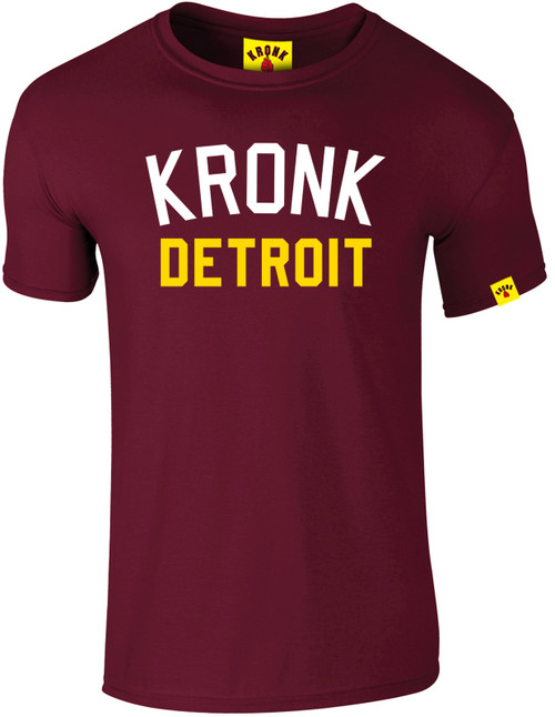 KRONK Iconic Detroit Slim fit T Shirt Maroon
