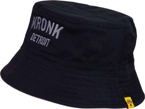 KRONK Detroit Cotton Bucket Hat Black Charcoal