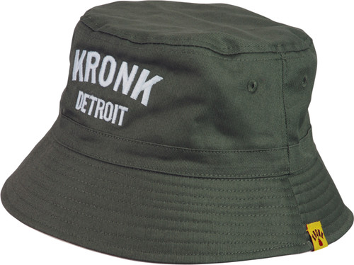 KRONK Detroit Cotton Bucket Hat Military Green