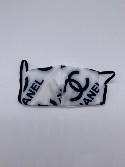 Designer Inspired White Logo Mask