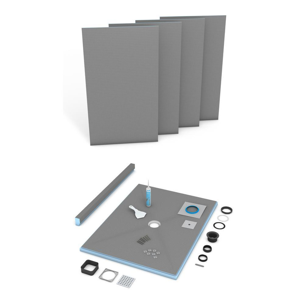 Wedi Fundo Primo Shower Pan Systems (Center Drain)