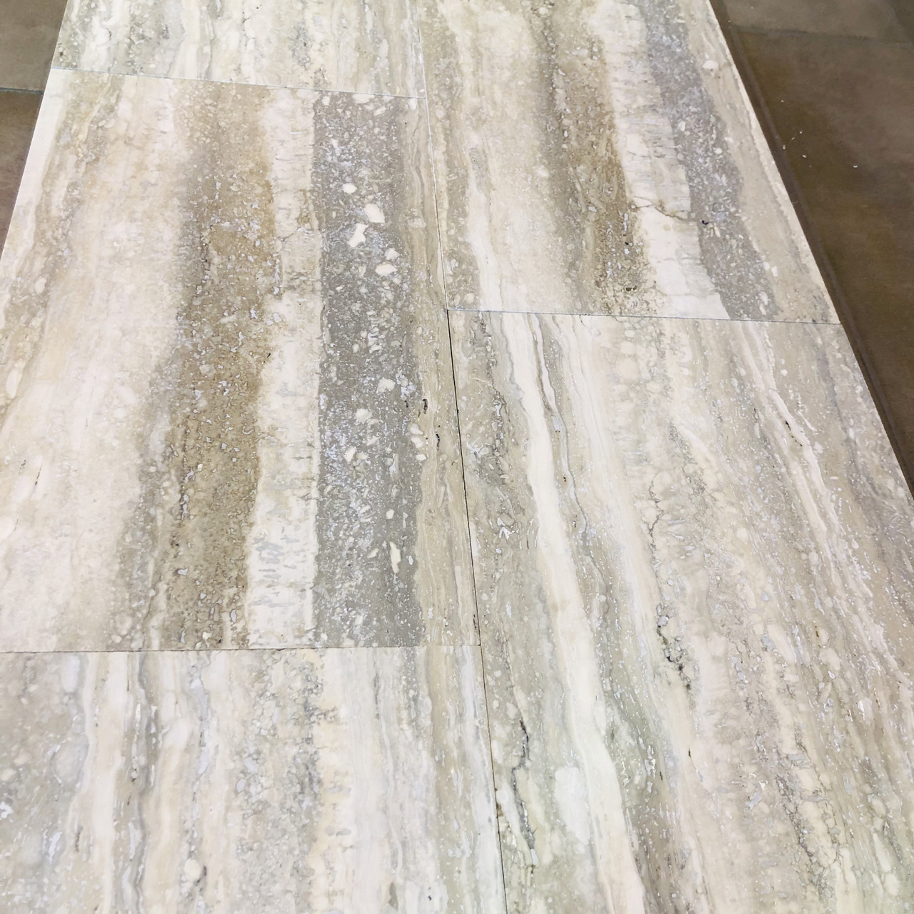 Italian Silver Travertine Tiles