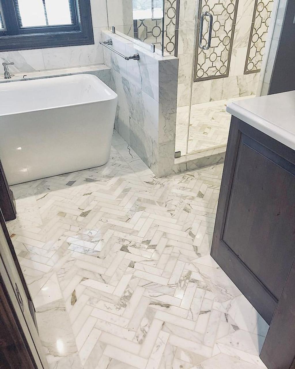 Calacatta Nuovo Marble Tiles