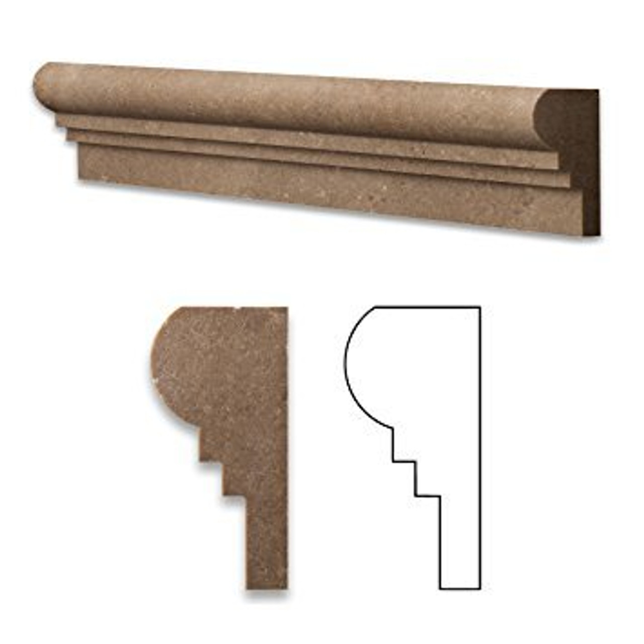 Travertine Chair Rail Pieces