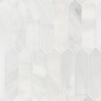"""Ocean White Honed 3""""x12"""" Picket Tiles"""