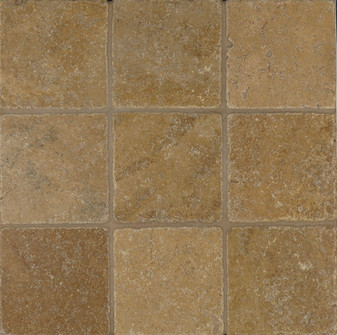 Noce Tumbled 4x4 Travertine Tiles