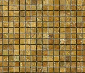 Giallo Real Polished 5/8x5/8 Marble Mosaics