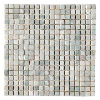 Ming Green Tumbled 5/8x5/8 Marble Mosaics