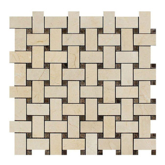 Crema Marfil / Emperador Dark dot Basketweave