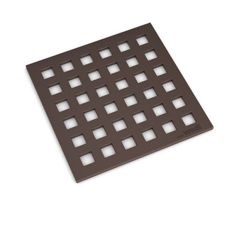 "Wedi Fundo Drain Cover Set - 4"" x 4"" Oil Rubbed Bronze"