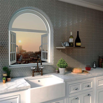Stainless Steel Hexagon Mosaic Tiles