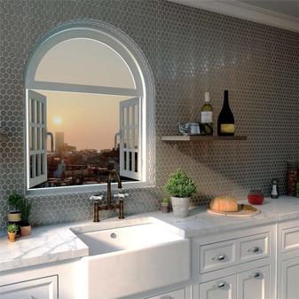 Stainless Steel Hexagon Mosaic Tiles