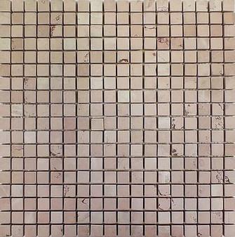 Yingzi Pink Tumbled 5/8x8/8 Mosaic Tile