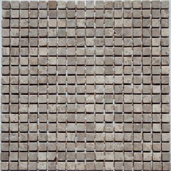 Emperador Light Tumbled  5/8x5/8 Mosaic Tiles