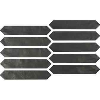 Switch 2×10 Picket Tile – Graphite Matte