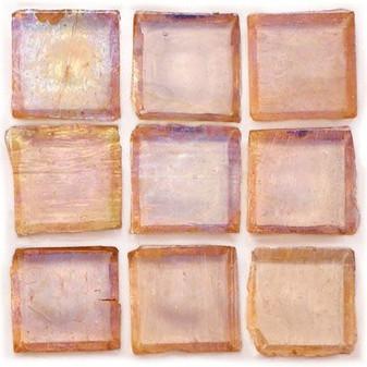 """Ginger Tea 1""""x1"""" Iridescent Glass Mosaic"""