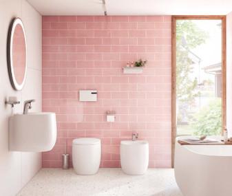 """Triumph Velvet Pink Gloss 4""""x10"""" Wall Tiles"""